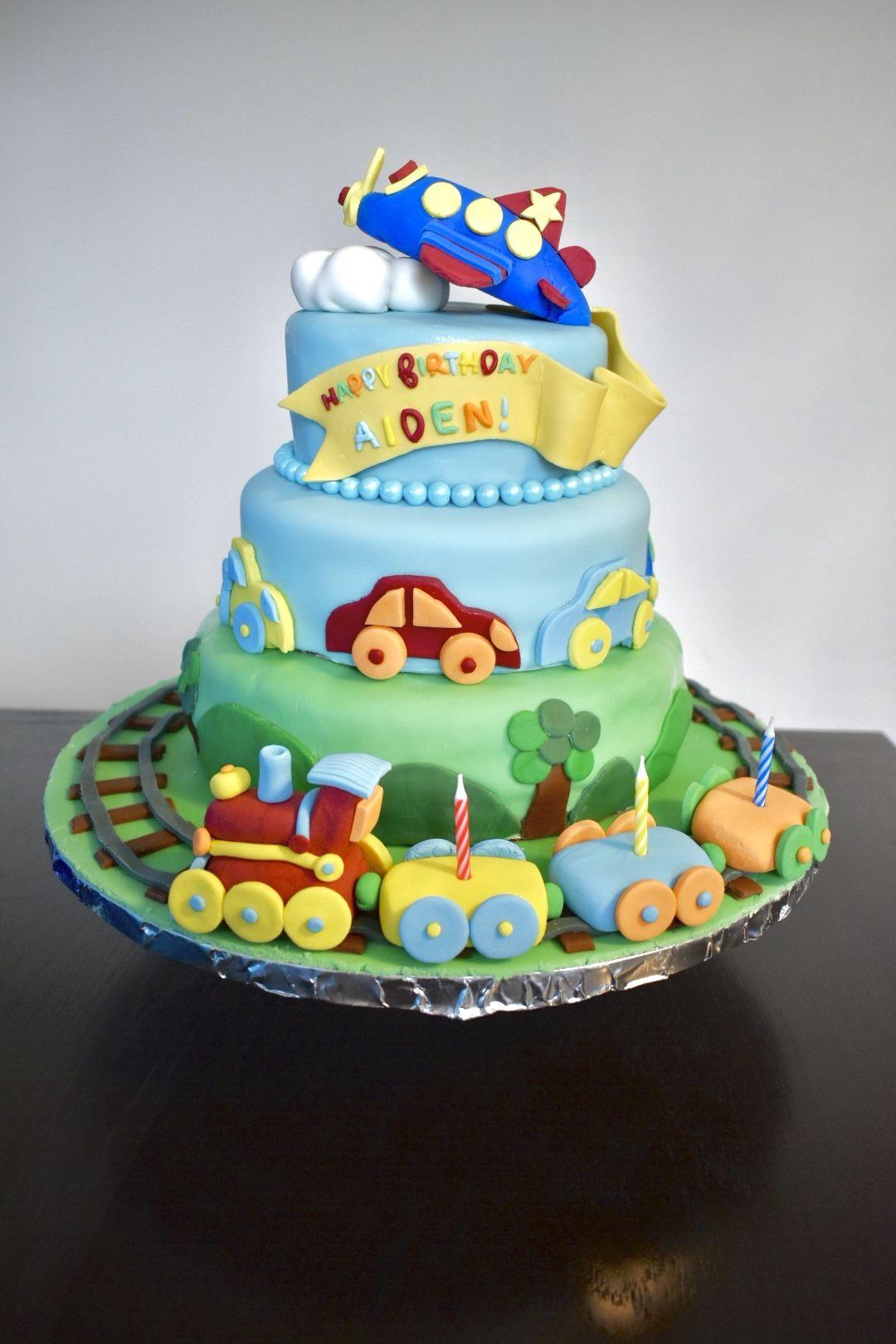Wondrous Transportation Planes Trains Cars Birthday Cake Cars Birthday Funny Birthday Cards Online Hendilapandamsfinfo