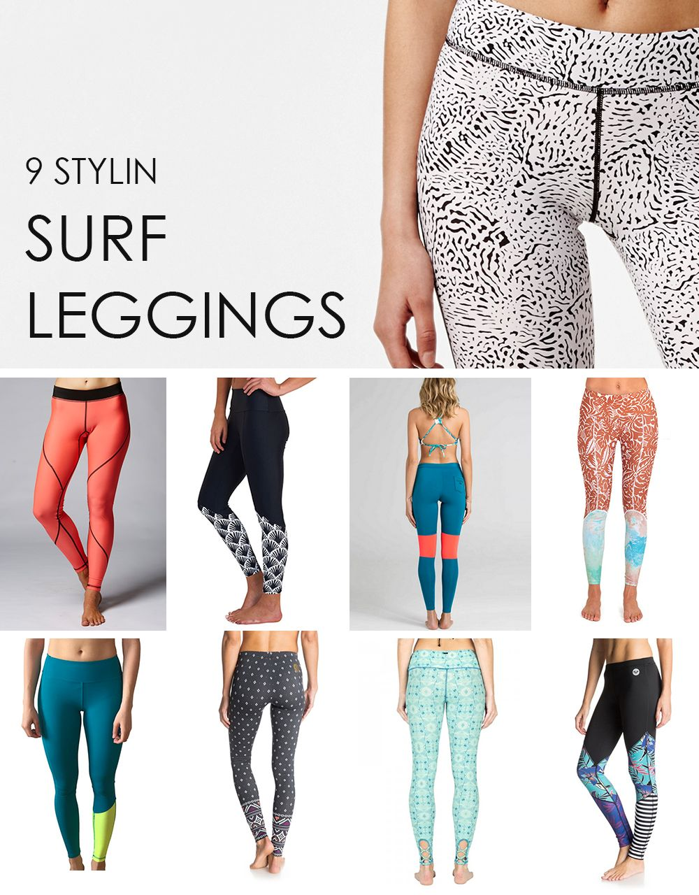 2f56897392ac 9 of our favourite pairs of surf leggings for summer 2016 plus 7 reasons  you must pack surf leggings for your travels.