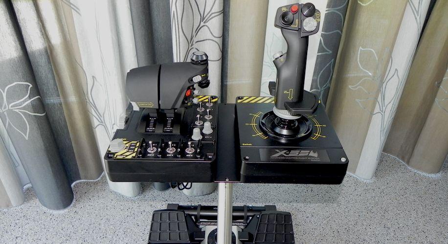 wheel stand pro deluxe v2 for saitek x52 pro x55 rhino. Black Bedroom Furniture Sets. Home Design Ideas