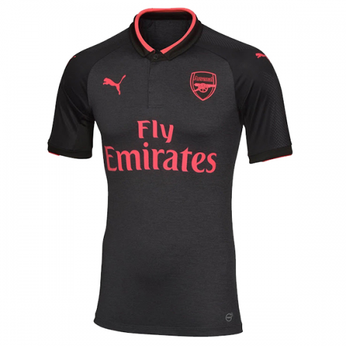 0237731296b 17-18 Arsenal Third Away Black Soccer Jersey Shirt