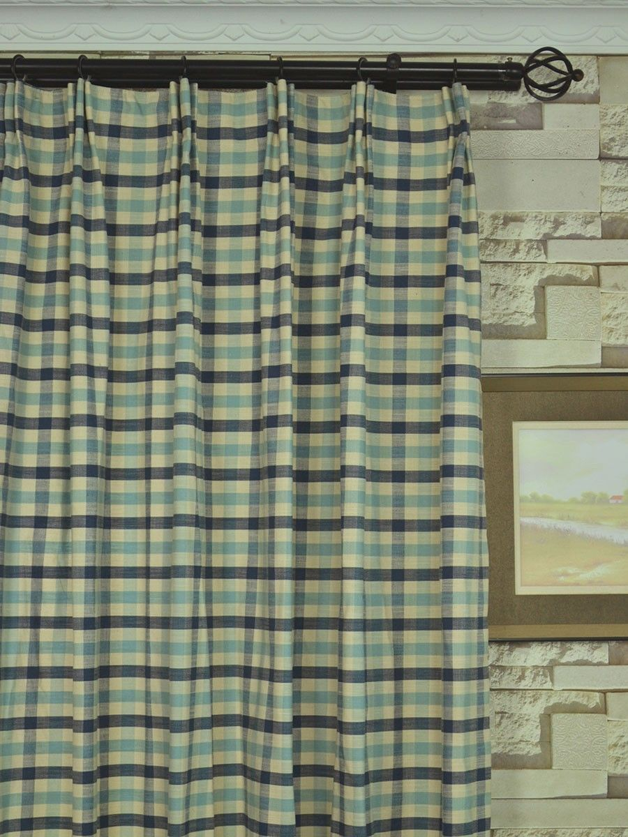 multi top ready curtains inch white cm ring drop pair of x heavy eyelet made homescapes dp cotton polka blue yellow dot