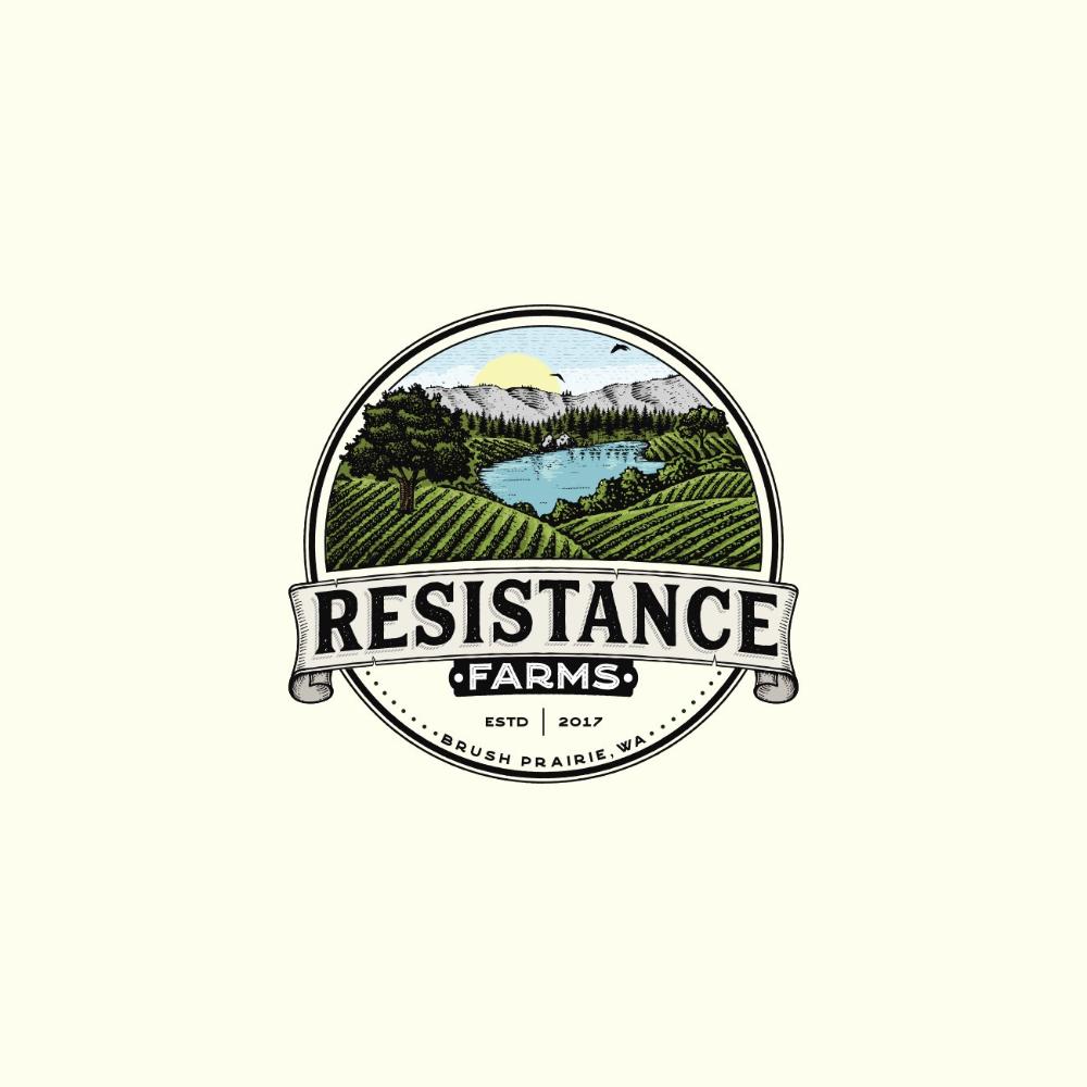 Peruse Brilliant Designs From Pswizzard 99designs In 2020 Farm Logo Design Hand Drawn Logo Design Vintage Logo Design