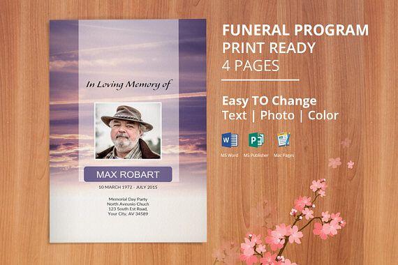 Funeral Program Template Memorial Program Obituary Template - funeral program template microsoft
