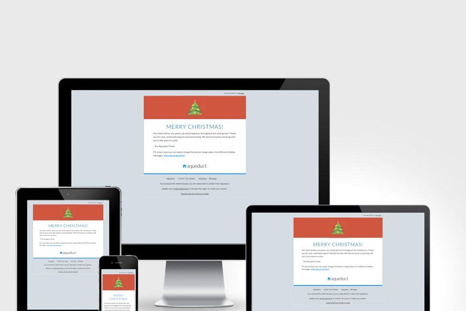 Ad Holiday Email Template Mailchimp by BootstrapCreative