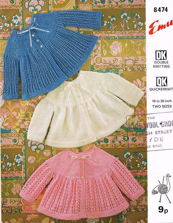 Bestway 2234 baby matinee coat vintage baby knitting pattern PDF ...