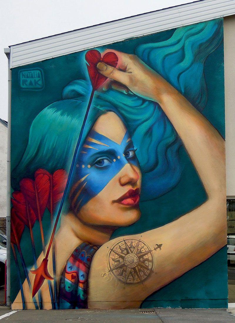 Building Sized Street Art Portraits By Natalia Rak Streetart