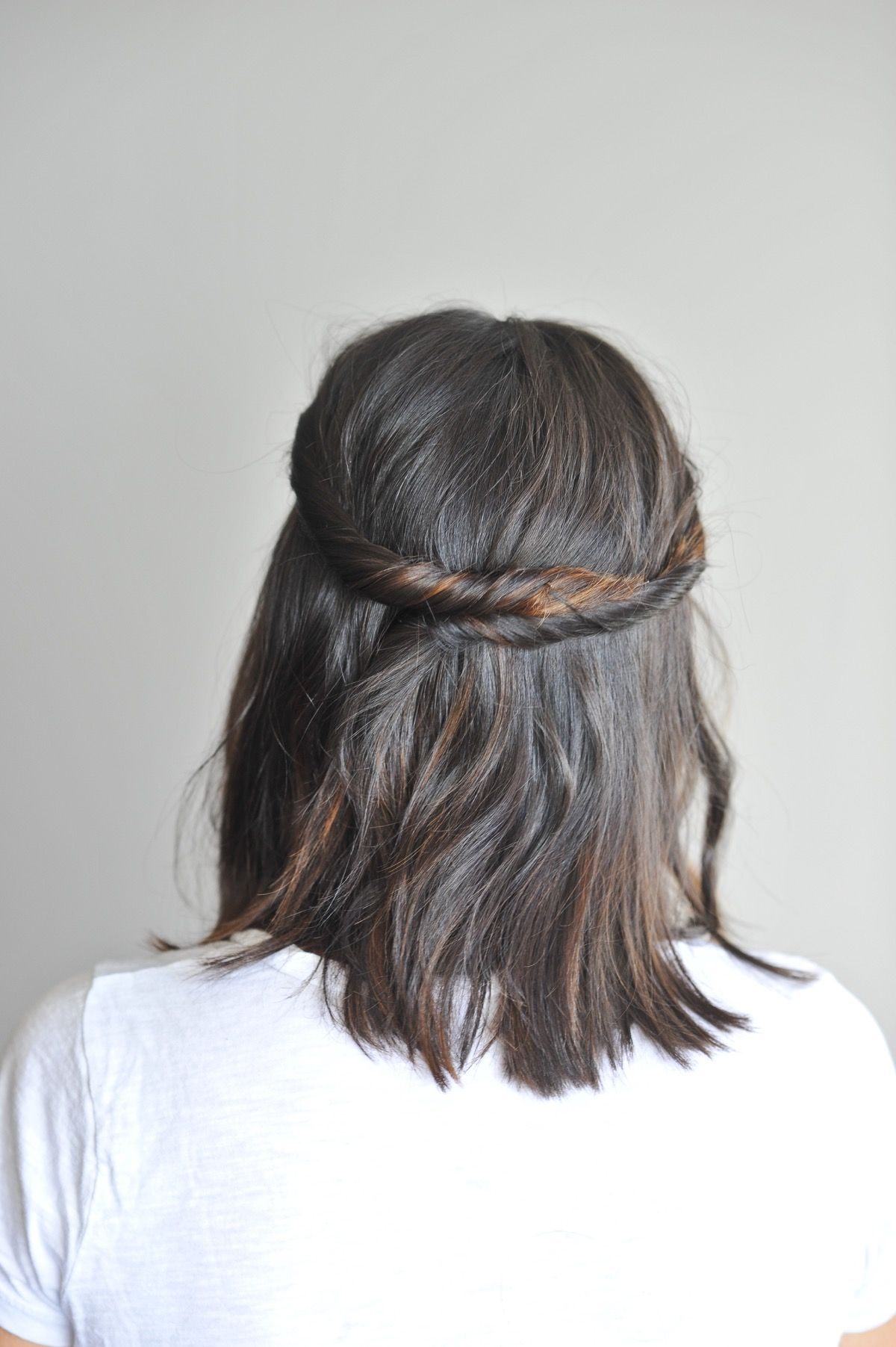 Twisted half up for short hair tutorial short hair hair style and