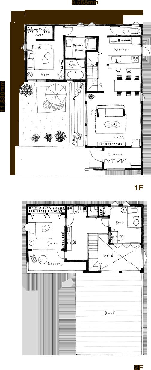 Zero Cube Fun 3ldkタイプ 間取り図 フリークスハウス ハウス