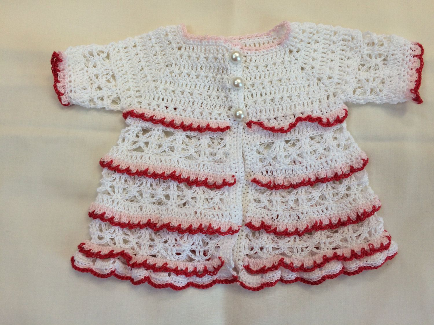 Delicate Lace Cardigan. Preemie Sweater. Baby Girl Cardigan. Baby ...