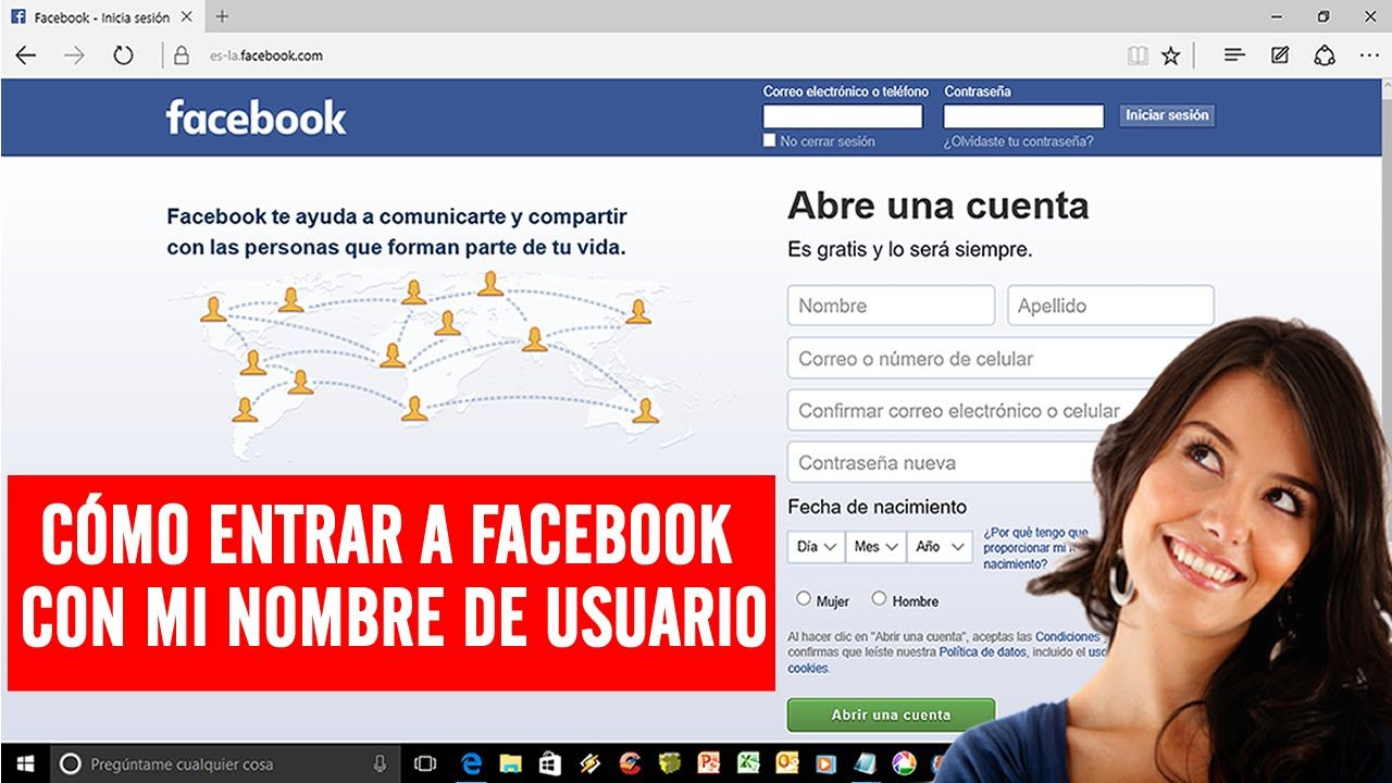 Como Entrar A Facebook Con Mi Nombre De Usuario 2016 Bien Explicado Cuenta Facebook Nombres Nombre