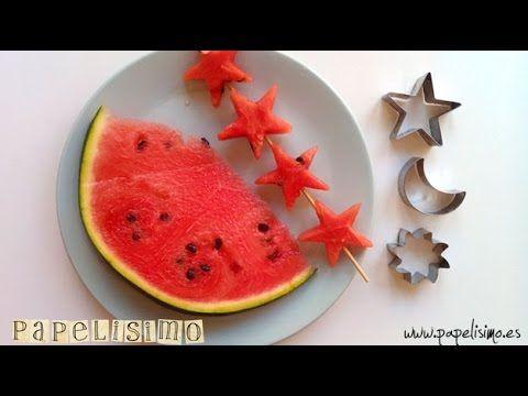 Cocina creativa recortar fruta tutorial http for Cocina facil para navidad