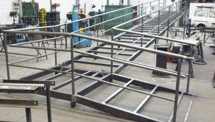 Detalle de estructura met lica para rampa de acceso www - Estructuras metalicas para viviendas ...