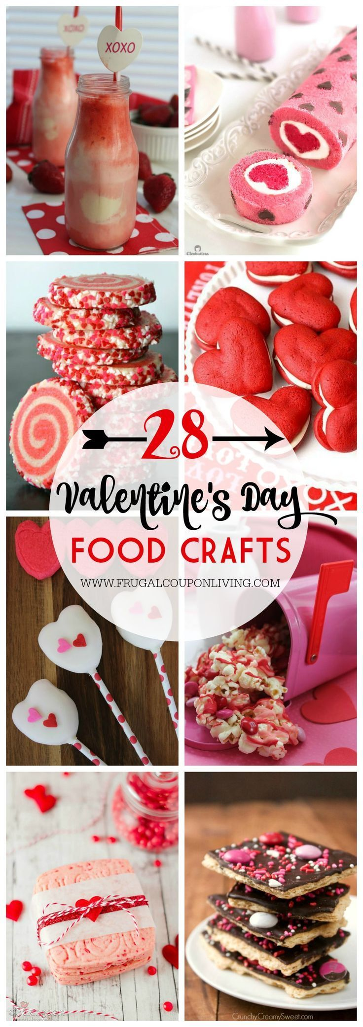 28 Days Of Kid S Valentine S Day Food Crafts Party Food Ideas