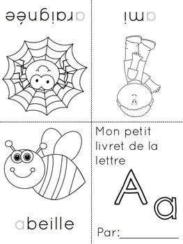petits livrets de l 39 alphabet french alphabet booklets jk sk activities french alphabet. Black Bedroom Furniture Sets. Home Design Ideas