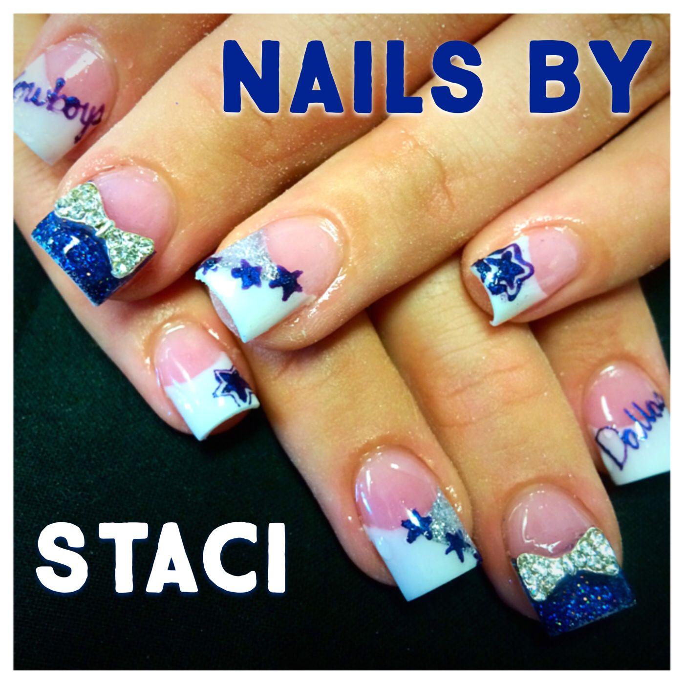 Dallas cowboys nails | Staci\'s Nail Artistry | Pinterest | Dallas ...