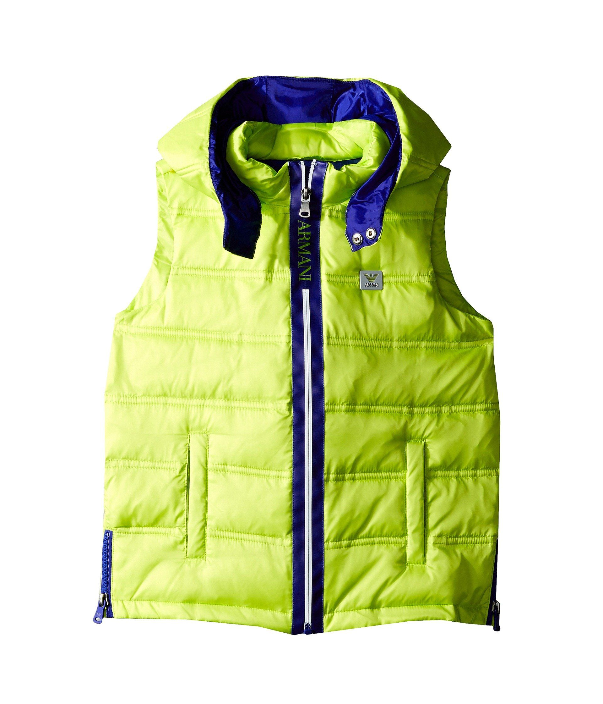 Armani Junior Boy S Puffer Vest With Blue Trim Toddler Little Kids Big Kids Lime Outerwear 6 Little Kids Made In Us Armani Junior Boy Armani Junior Big Kids [ 2240 x 1920 Pixel ]