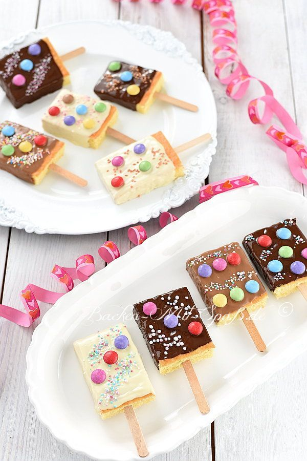 Kucheneis Am Stiel Rezept Backen Kindergeburtstag Geburtstag