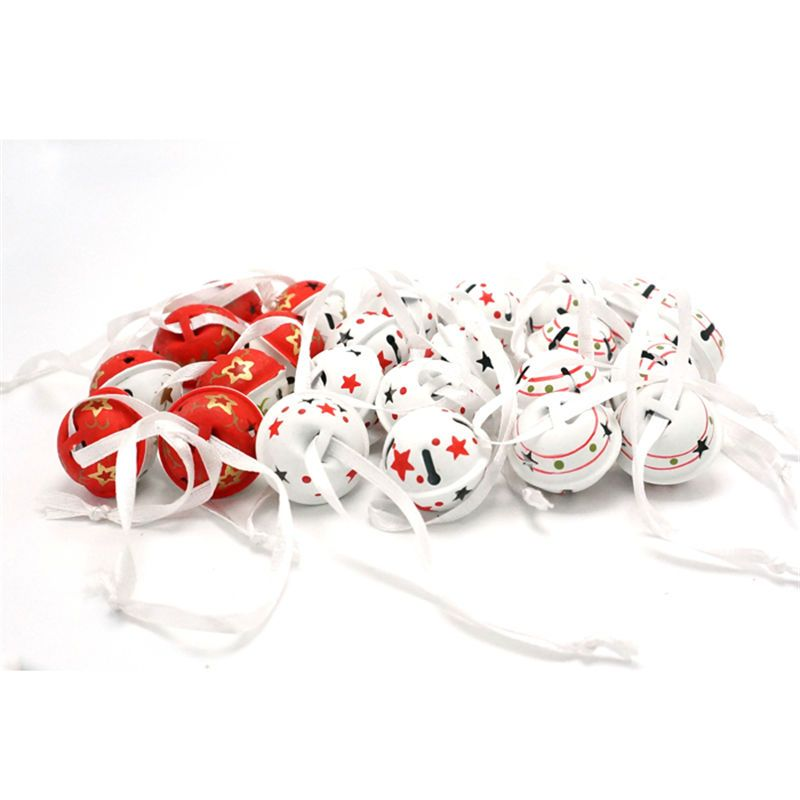 Christmas decoration 24 pcs metal Jingle Bells 25mm*20mm 3 types