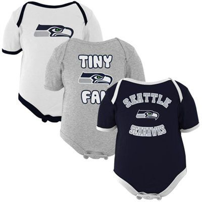 9e5a9c041 Seattle Seahawks Newborn 3-Pack Tiny Fan Creepers And of course my little  man needs some gear too!!