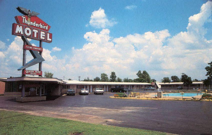Thunderbird Motel Joplin Historical Postcards Thunderbird Motel Historical Postcards Joplin Missouri
