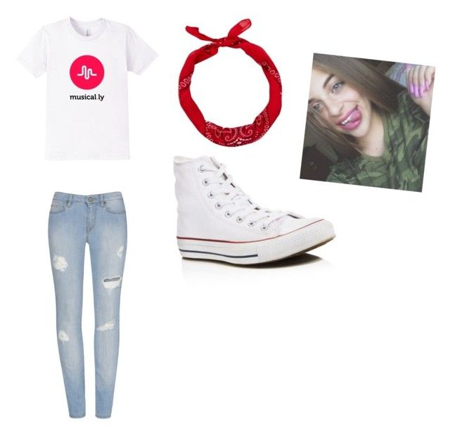 """""""#babyariel  musically 4 life"""" by cheetahbeat on Polyvore featuring Converse and New Look"""