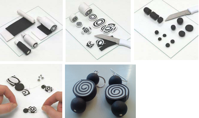 Zelf oorbellen maken met fimo