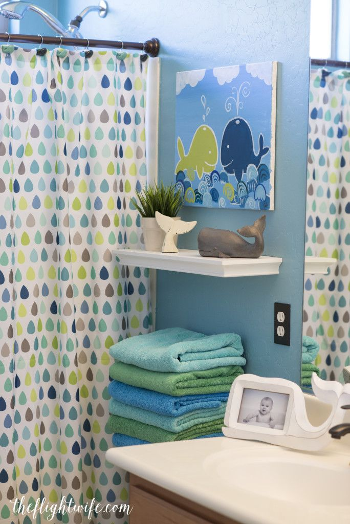 kids bathroom makeover fun and friendly whales love the idea of having different color towels for each child