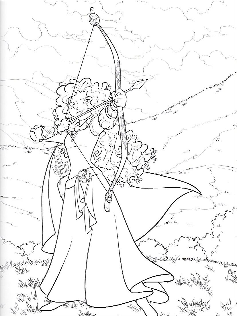 Pin By Julia Danchenko On Merida Disney Princess Coloring Pages Princess Coloring Pages Cute Coloring Pages
