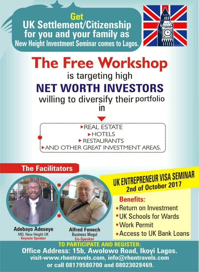 UK Entrepreneur Visa Seminar https//www.lindaikejisblog