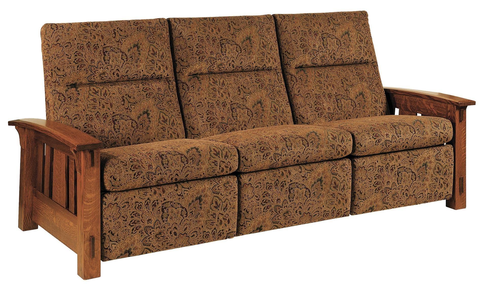 Best Amish Mccoy Mission Wall Hugger Reclining Sofa Loveseat 640 x 480