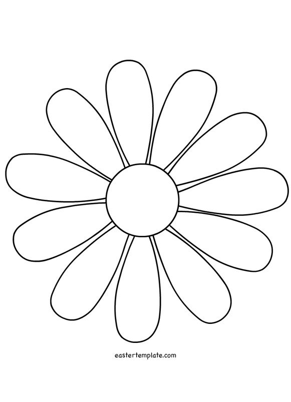 daisy flower template | Therapy Thoughts | Pinterest | Flower