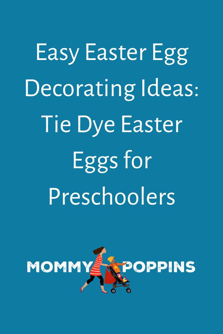 Easy Easter Egg Decorating Ideas Tie Dye Easter Eggs for