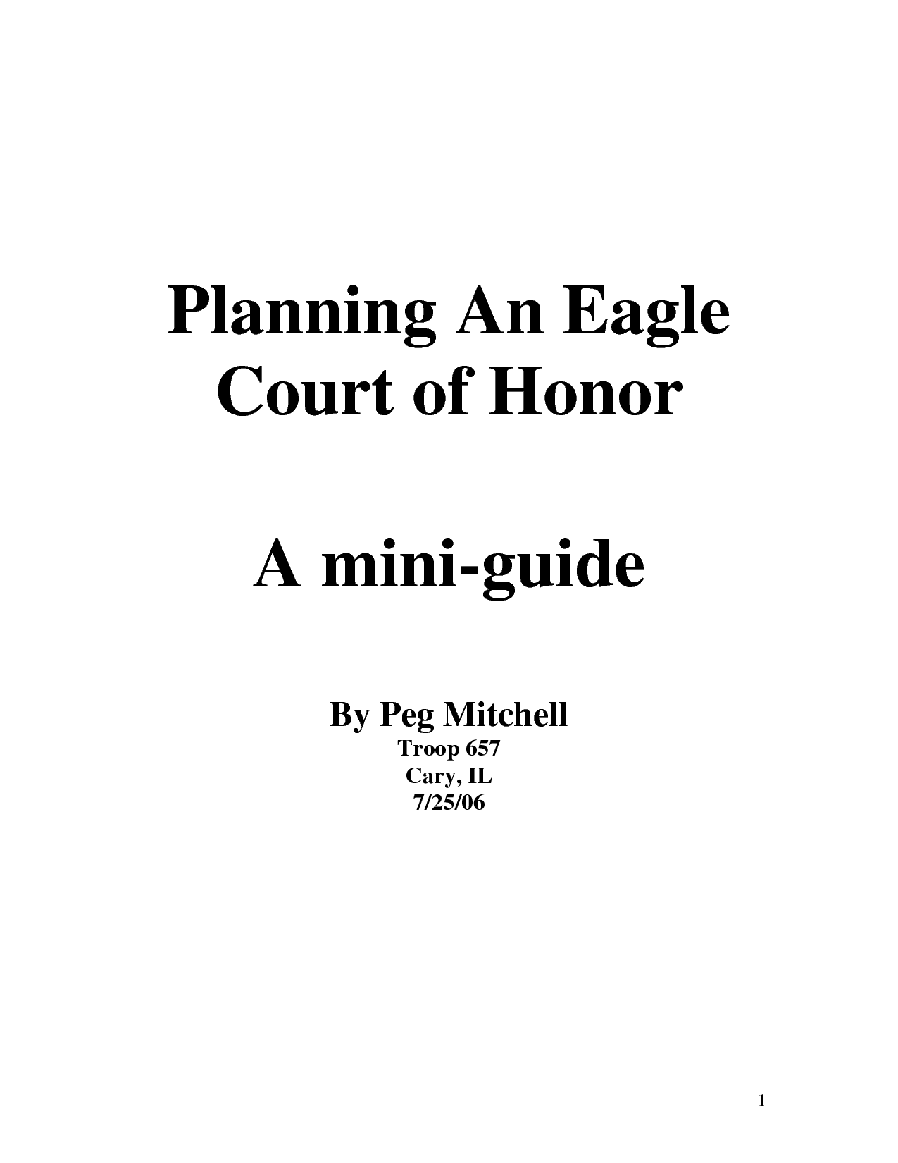The Eagle Court Of Honor
