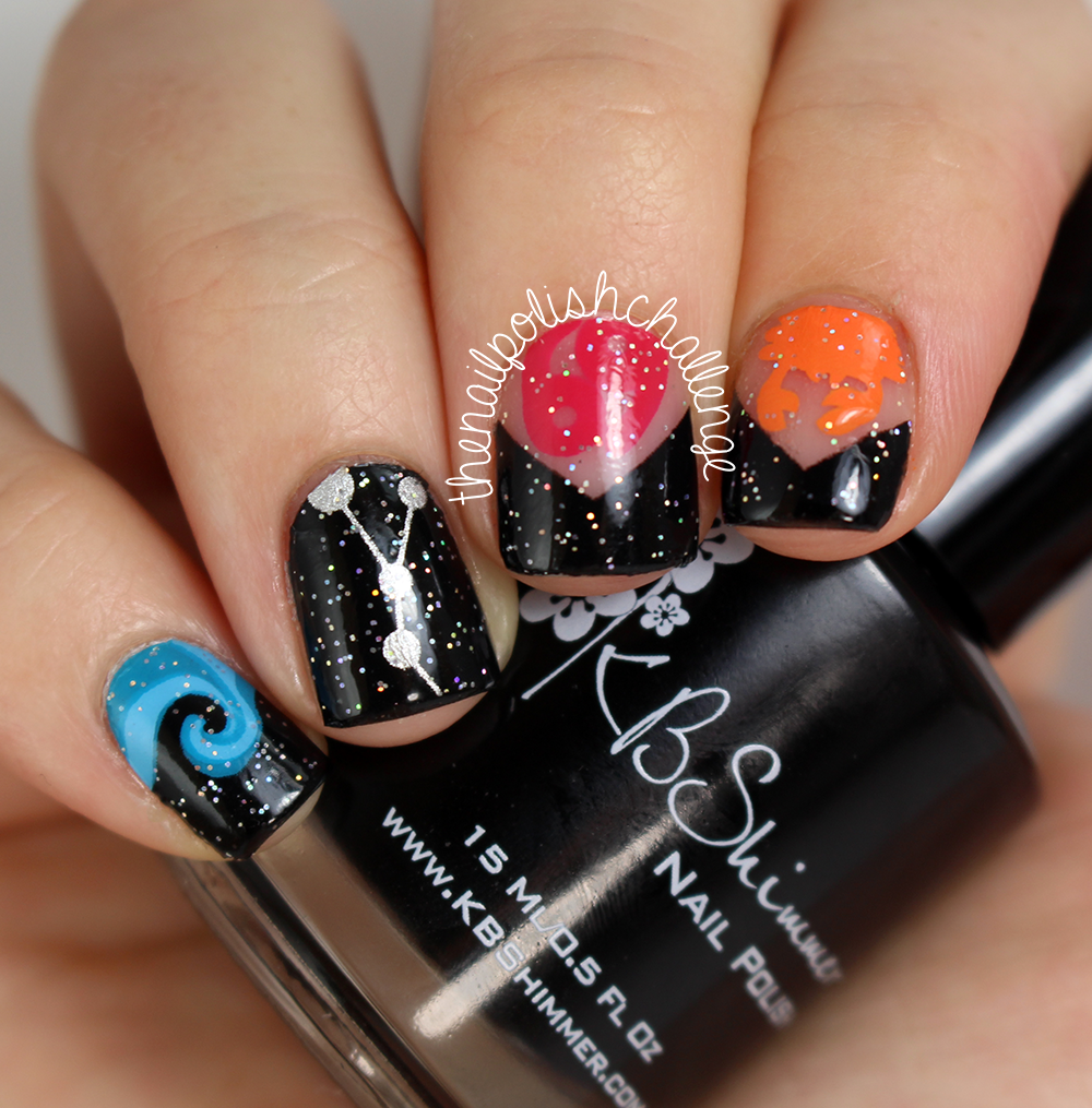 the nail polish challenge: SCRATCH Nail Wraps Review, Zodiac Collection: Cancer