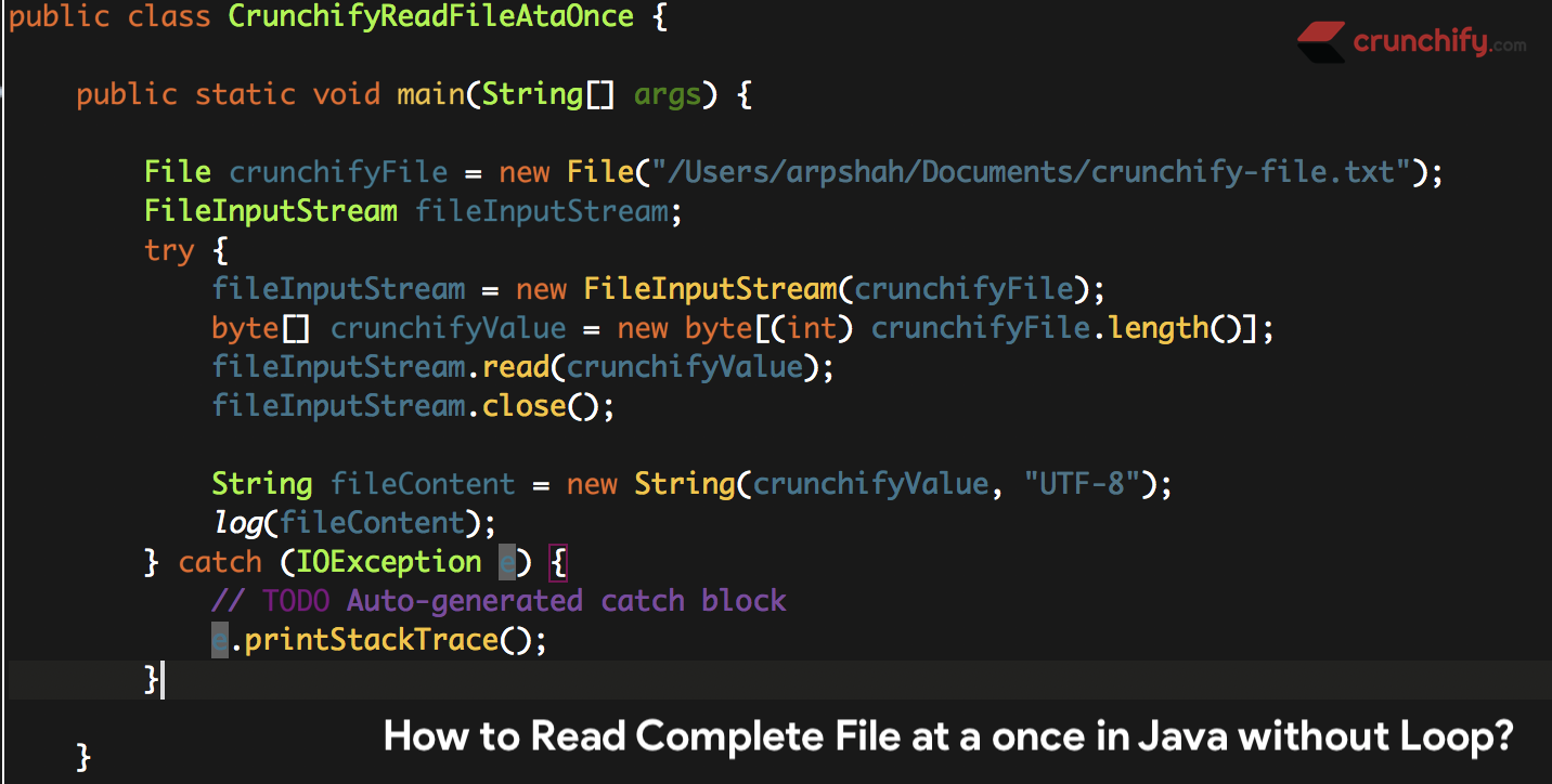 How To Read Complete File At A Once In Java Without Using Any Loop Https Crunchify Com How To Read Complete File At A Creative Web Design Reading Free Blog