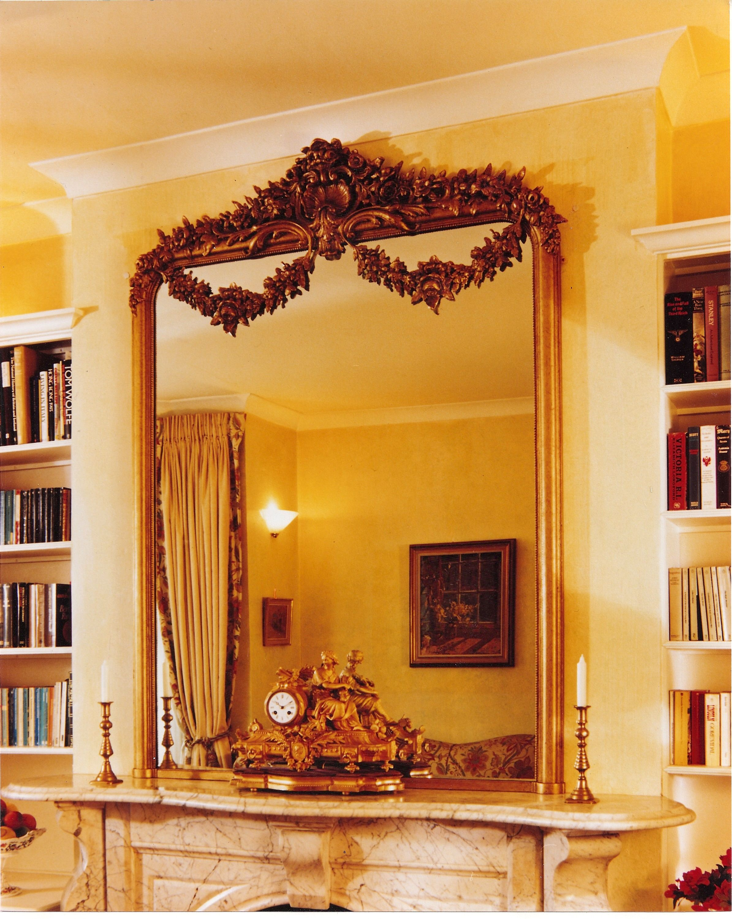 Large decorative French mirror | Overmantels Large French mirrors ...