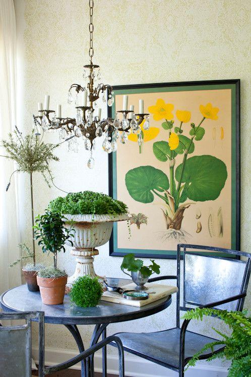 Splashy urn planters in Living Room Eclectic with Indoor Hanging ...