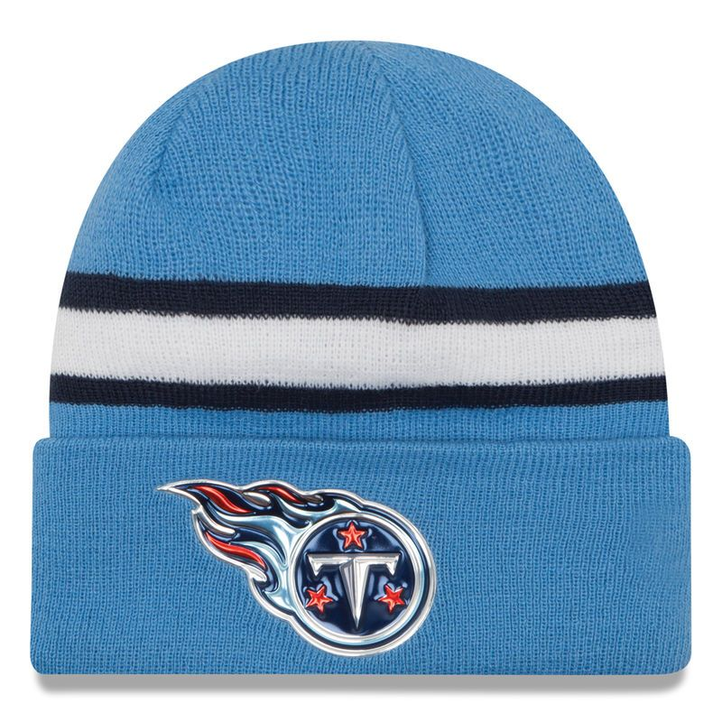 Tennessee Titans New Era Color Rush On Field Cuffed Knit Hat - Light Blue