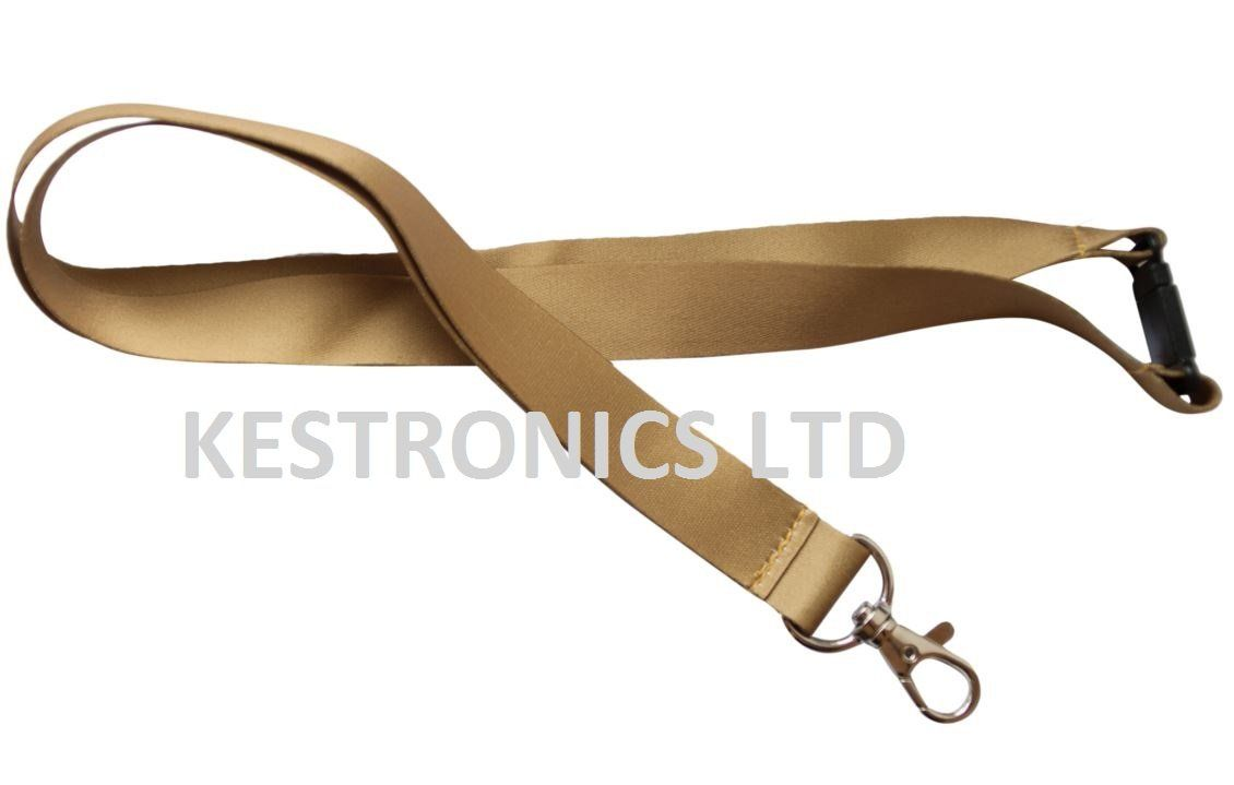 20mm Lanyard with Safety Break away and Metal clip (*NEW* GOLD)