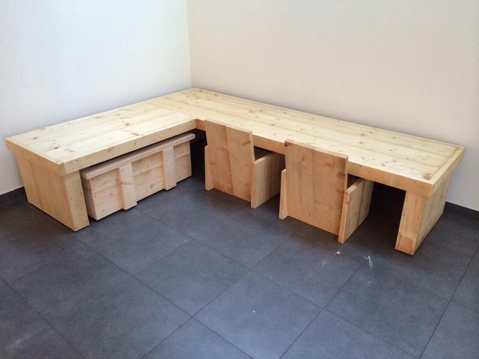 Stijlvolle Speeltafel Kinderkamer : Kinderhoek van steigerhout steigerhout pinterest kinderkamer