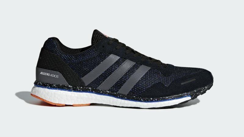 Adidas Adizero Adios 3 M Running Shoe, Solar Redblackwhite