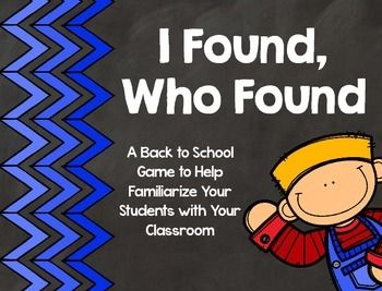 """Free Back to School ResourceWell, it's back to school time, and I am sure you are busy getting your school supplies organized and your classroom set up. Now, help your students get to know your classroom with this fun twist on the """"I have, Who has"""" game."""