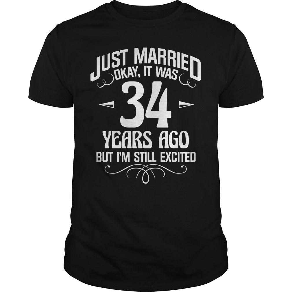 358ca008e Wife Husband Shirt. 34th Wedding Anniversary Gift. T Shirt ...