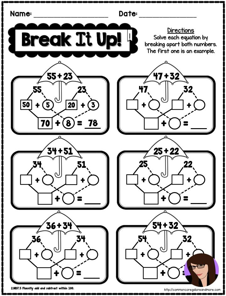 2nd Grade Spring Math Printables Touch Math Spring Math Touch Math Worksheets