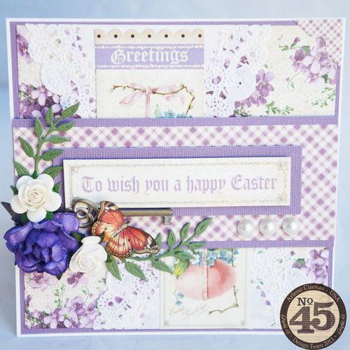 A beautiful Easter card using Sweet Sentiments from Arlene! #graphic45 #cards