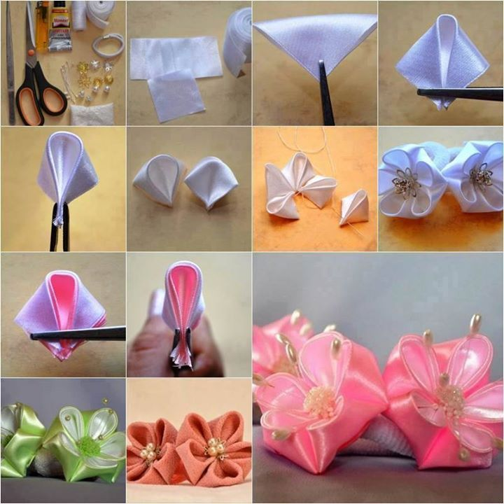 Pin by annie ienna on nhen pinterest explore ribbon flower tutorial kanzashi tutorial and more mightylinksfo