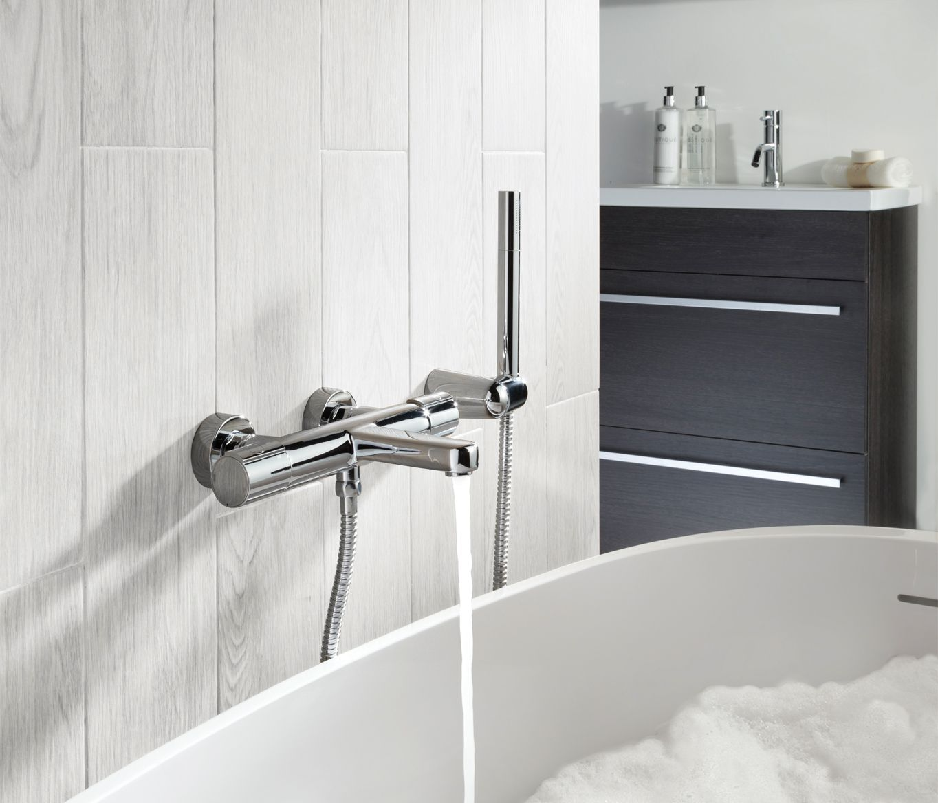 Jtp Hugo 2 Hole Wall Mounted Thermostatic Bath Shower Mixer Tap Bath Shower Mixer Taps Bath Shower Mixer Bathroom Taps