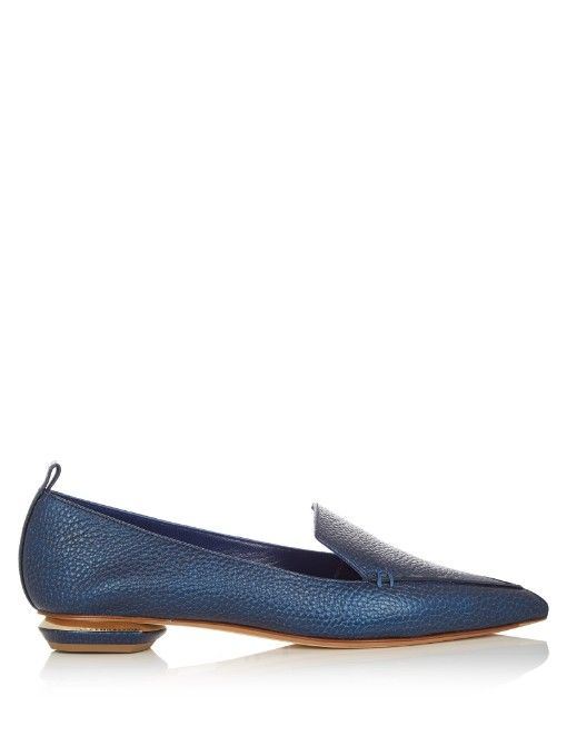 15259e59645 NICHOLAS KIRKWOOD Beya Metallic Grained-Leather Loafers.  nicholaskirkwood   shoes  flats