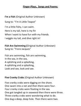 under the sea preschool activities  preschool songs