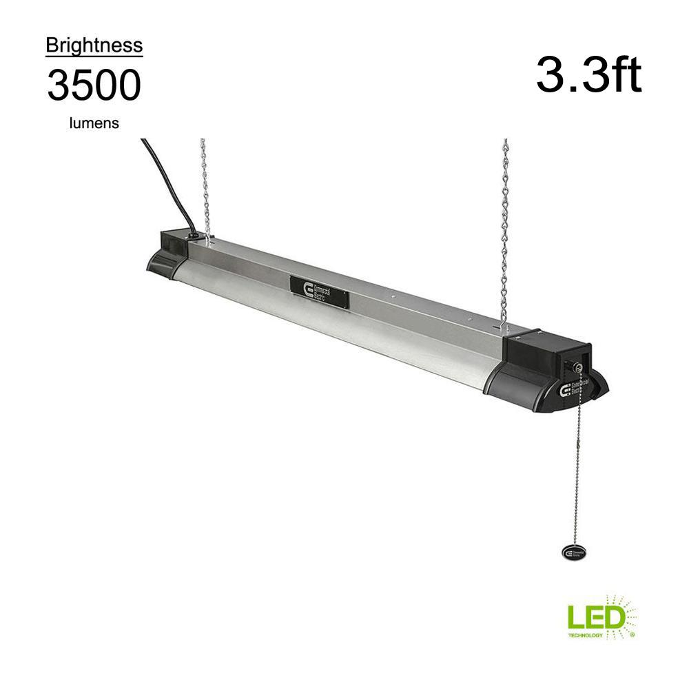 Commercial Electric 40 In 64 Watt Equivalent Integrated Led Black